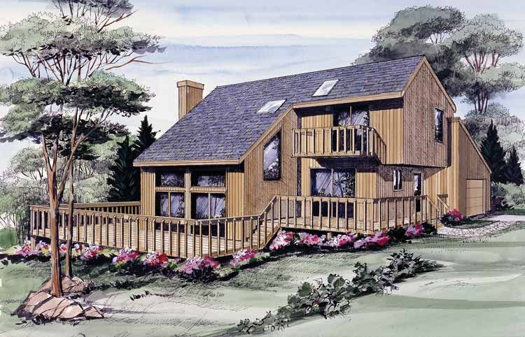 Contemporary Style House Plan 3 Beds 2 Baths 1629 Sq Ft Plan 314 212 Contemporary House Plans Shed House Plans Contemporary House