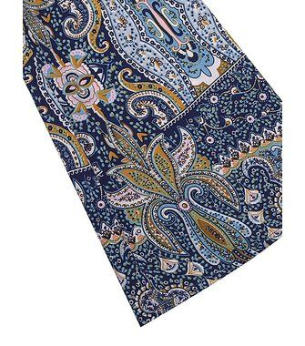 Bohemiian Floral Print Long Sleeve V-Neck Belt Tunic Women Dress at Banggood