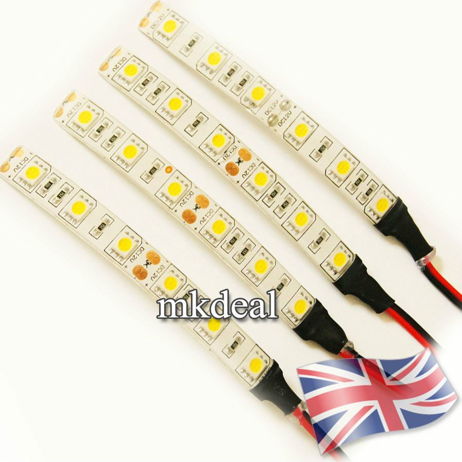 10cm 5050 led strip light 12v car caravan white blue red green 10cm 5050 led strip light 12v car caravan van white blue red green waterproof uk aloadofball Gallery