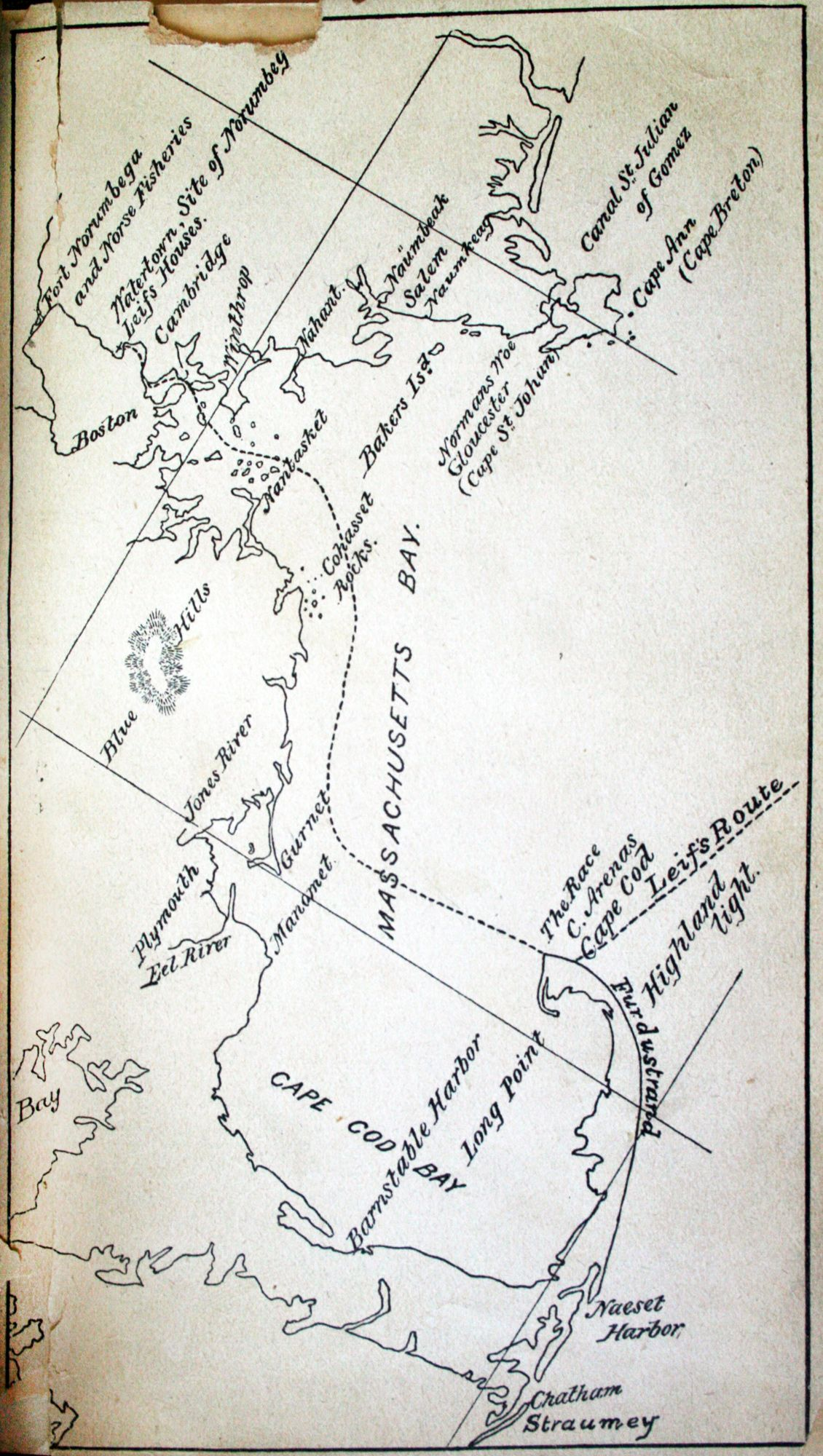 Leif Erikson S Route Into Massachusetts According To