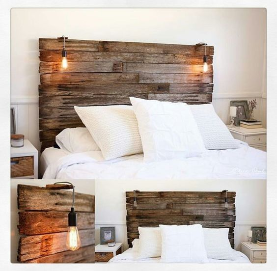 100 Diy Pallet Wood Headboard Project Ideas Pallet Reuse Pallet Wood Headboard Bedroom Headboard Unique Bedroom Design
