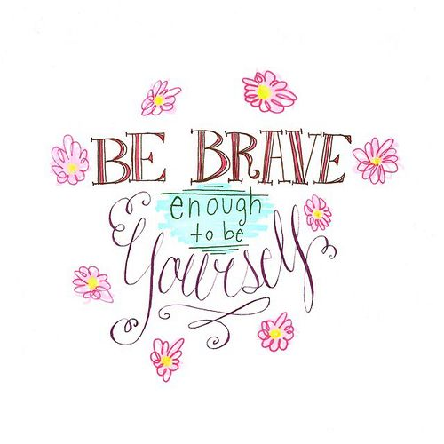 quote, brave, and yourself image