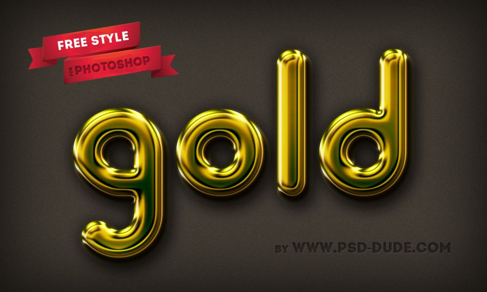 Gold Text Effect - PSD file | Just Do It | Photoshop, Free ...