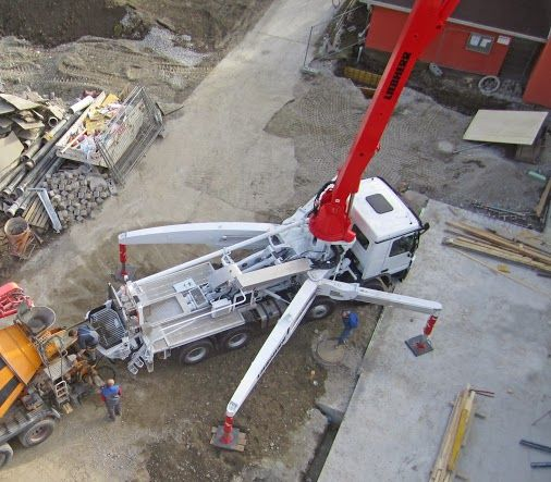 Liebherr - XXT outrigger system on truck-mounted concrete