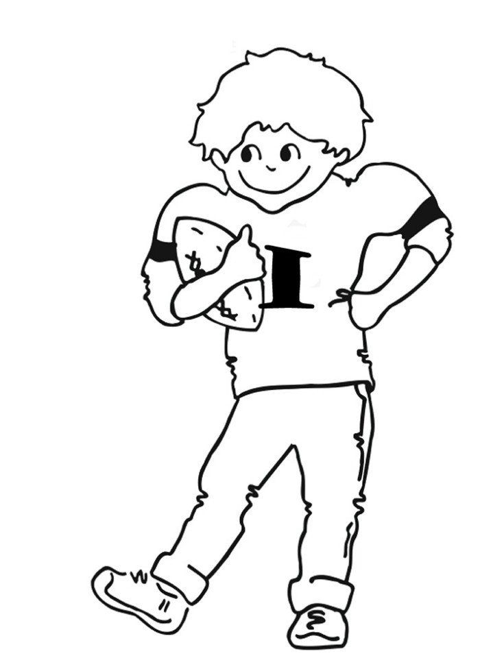 Football Player Coloring Pages Football Player Coloring ...