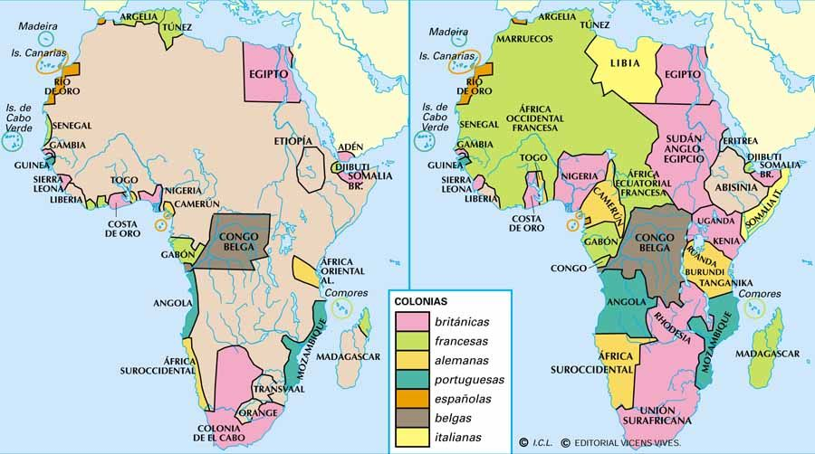 contemporary map of africa Africa El Expolio De Un Continente Continentes Historia contemporary map of africa