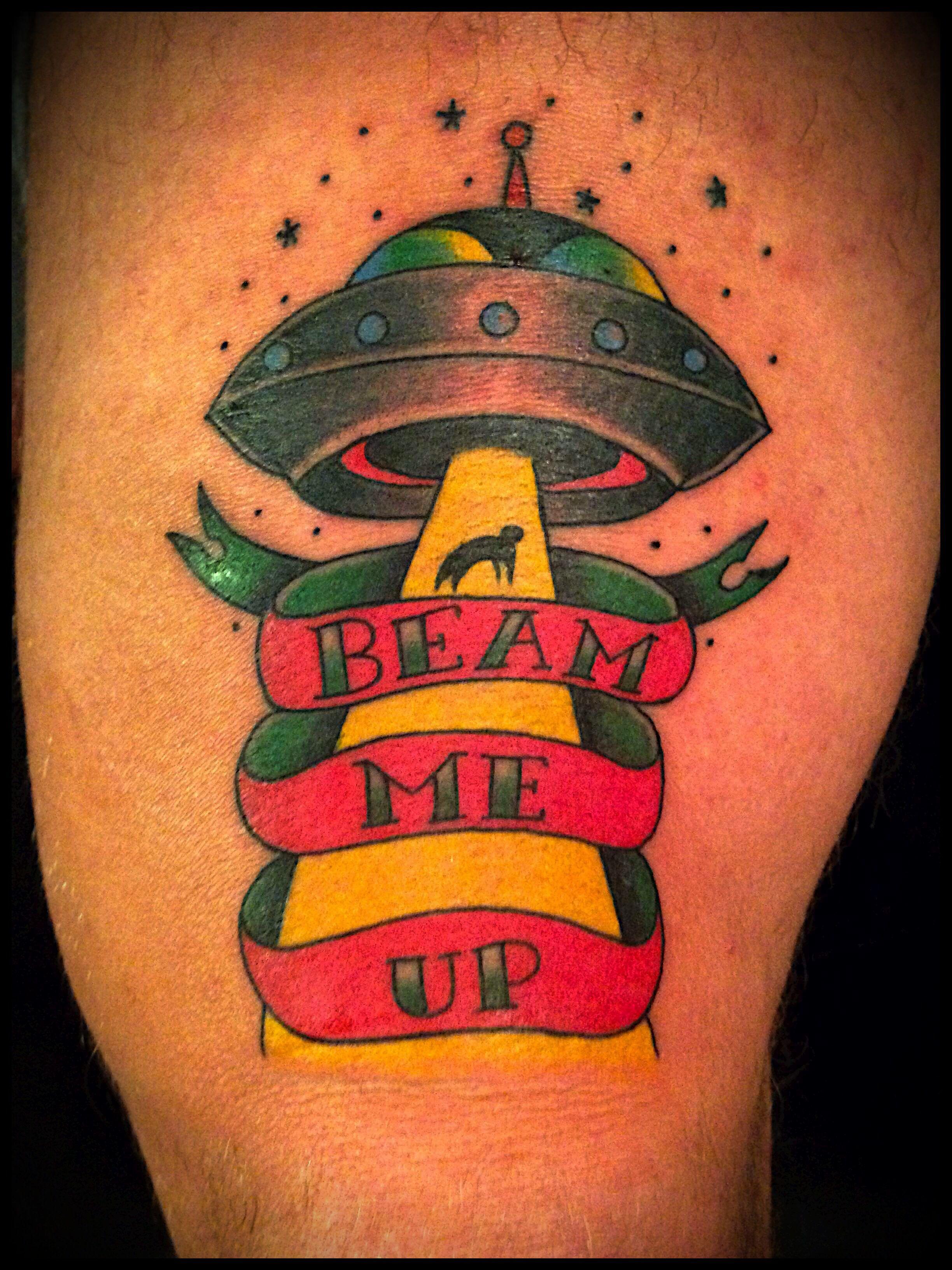 Neo traditional ufo alien tattoos by Oksana weber follow me. @Oksana ...