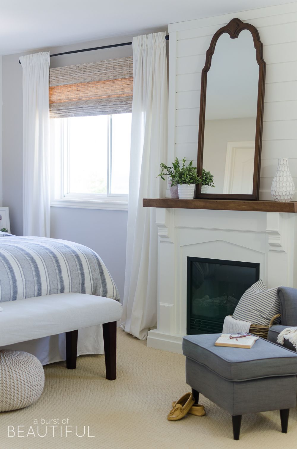 Woven Wood Shades The Best Window Treatments Bedroom Fireplace