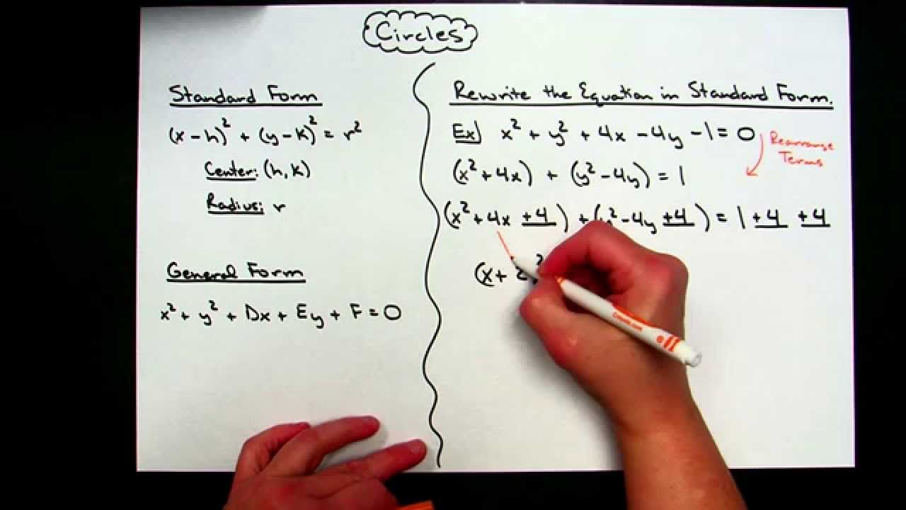 ccbd1887ee3c1a73483e3f726ba31215 - How To Get The General Form Of A Circle