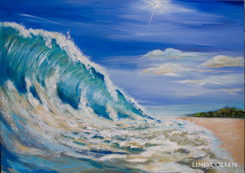 Posts About Waves On Linda Olsen S Art Blog Wave Painting Art Blog Acrylic Wave Painting