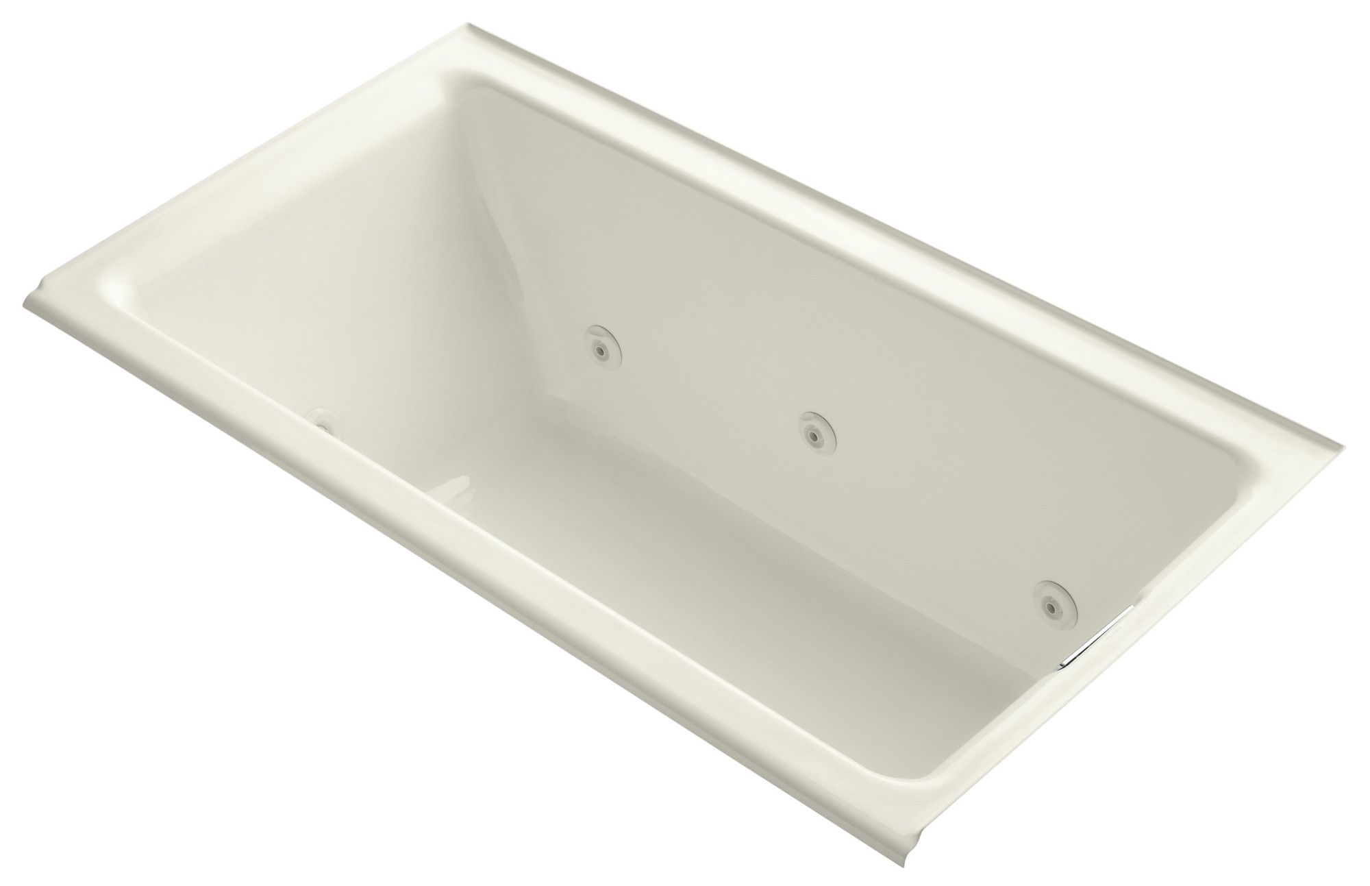 Tea-For-Two Alcove Whirlpool with Right-Hand Drain and Heater without Trim