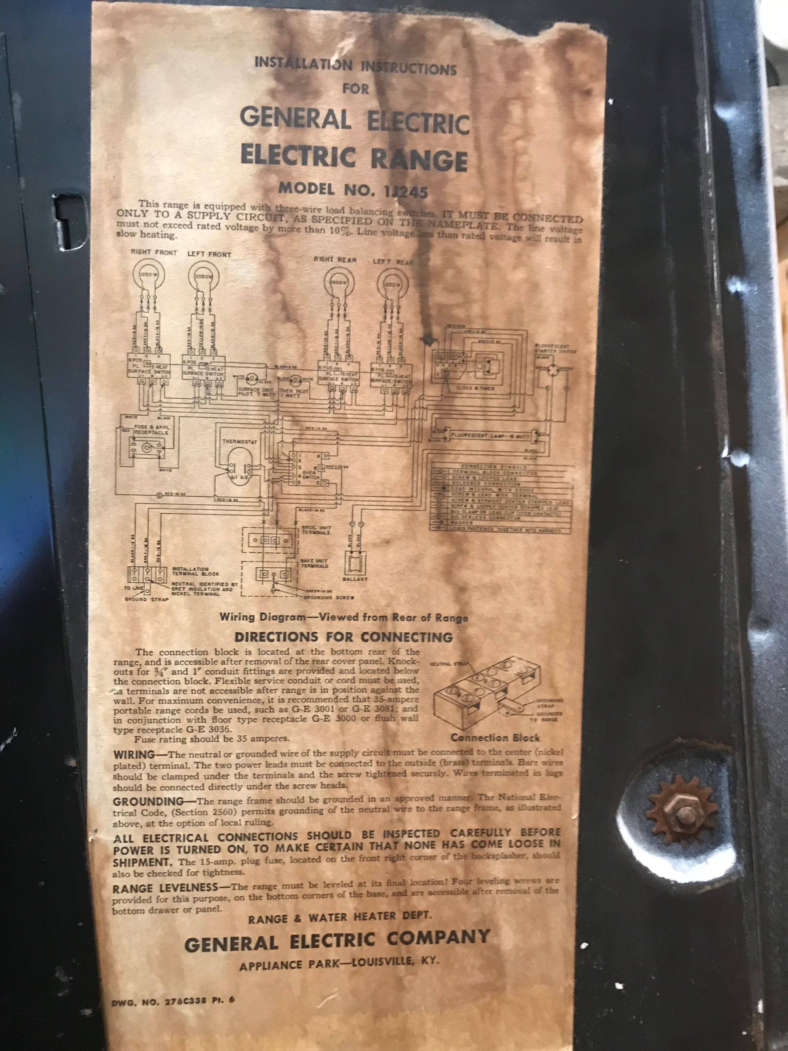 Ge Oven Wiring Diagram Ge Oven Electric Range Wire