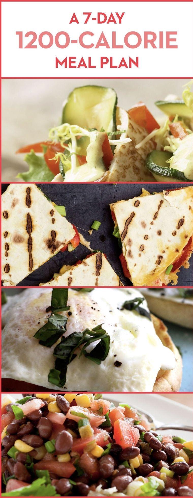A 7day 1200calorie meal plan 1200 calorie meal plan