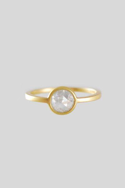 Gillian Conroy 18k Round White Diamond Ring