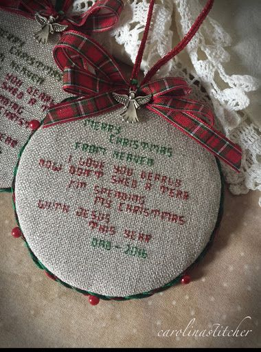 Deceased loved one ornament:
