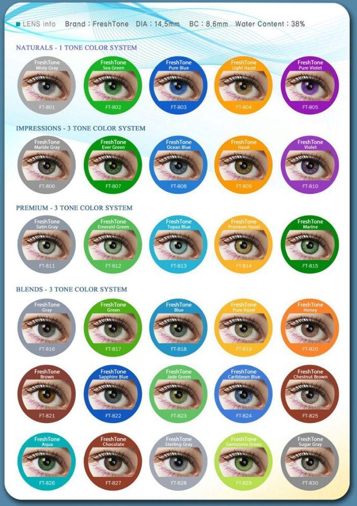 aa86ede1606 Freshtone Colored Contact Lenses For Eyes Korea Cheap Cosmetic Wholesale  Color Contact Lens Photo