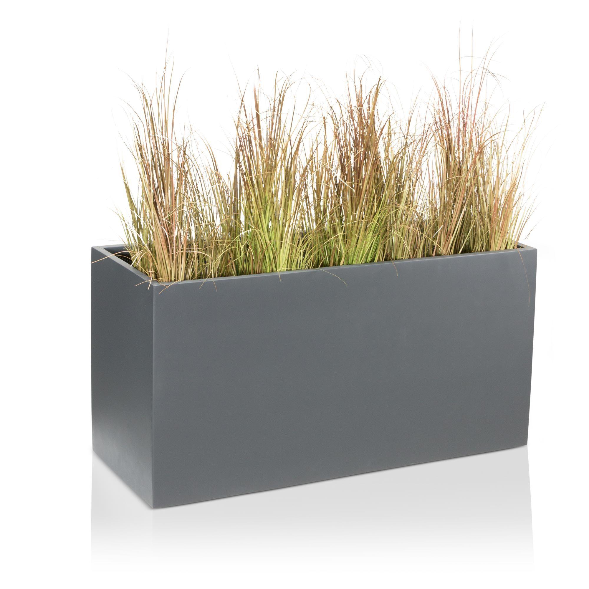 Pflanztrog Visio 50 Fiberglas Grau Matt Plants Plant Troughs