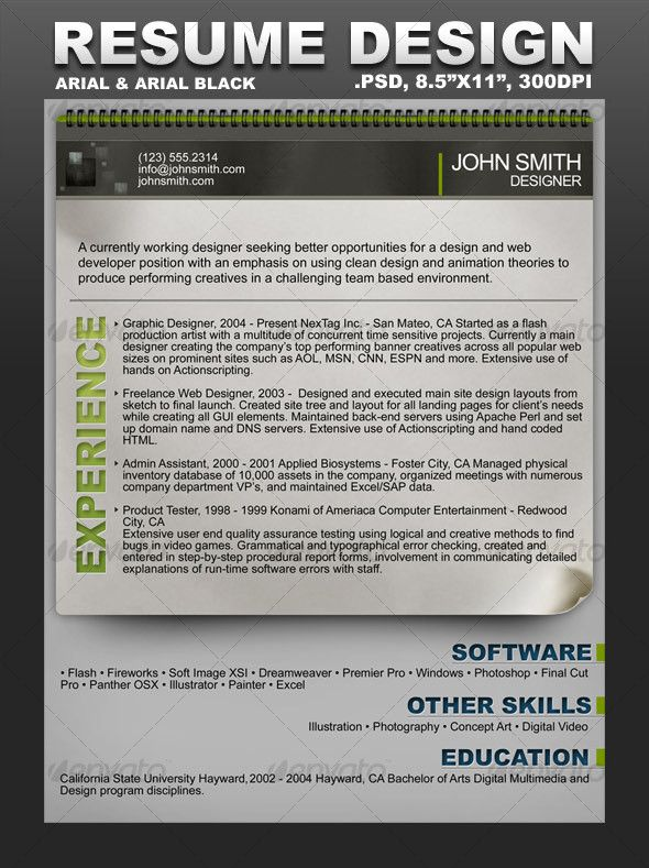 Creative Resume Template Creative resume templates, Template and - resume for artist