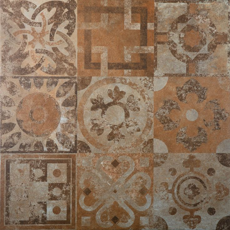 Carrelage effet terre cuite style patchwork gr s for Carrelage mural motif ancien