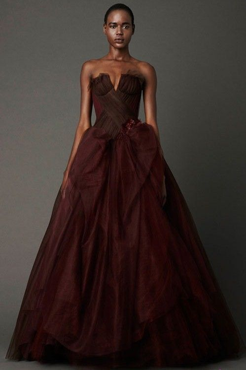 Brown Color Dress From Vera Wang For Chocolate Wedding This Would Be PERFECT In A