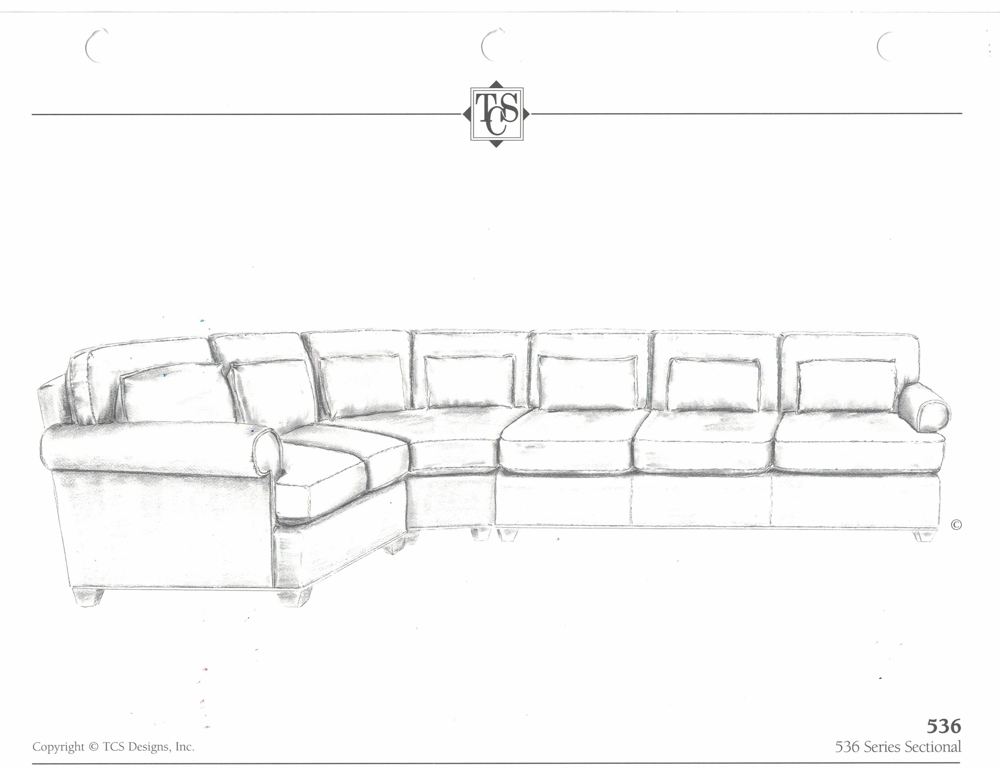 536 sectional tcs designs actual configuration of sectional would be slightly different from pictured