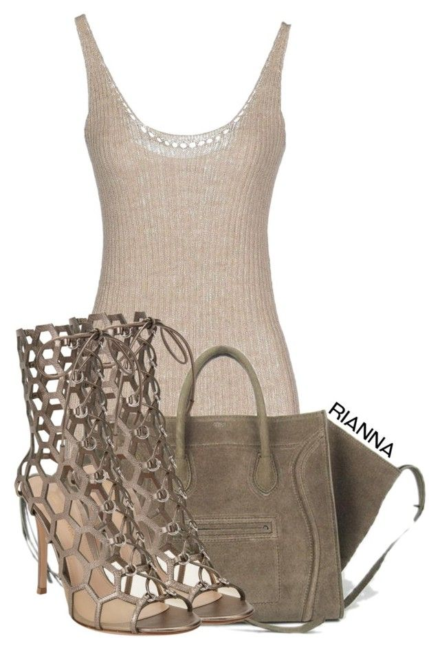 """""""#135"""" by rgkstyles ❤ liked on Polyvore featuring Gentryportofino and Gianvito Rossi"""