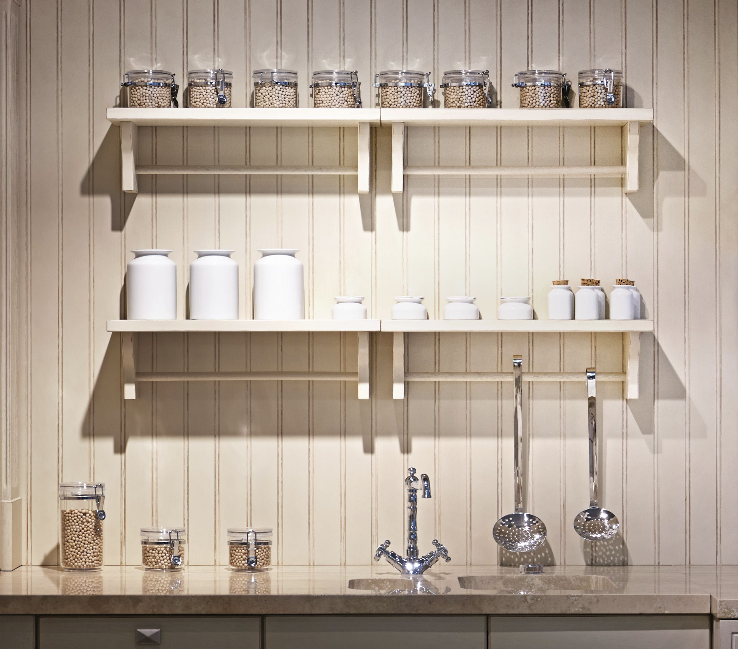 Wall Storage Systems With Cool Kitchen