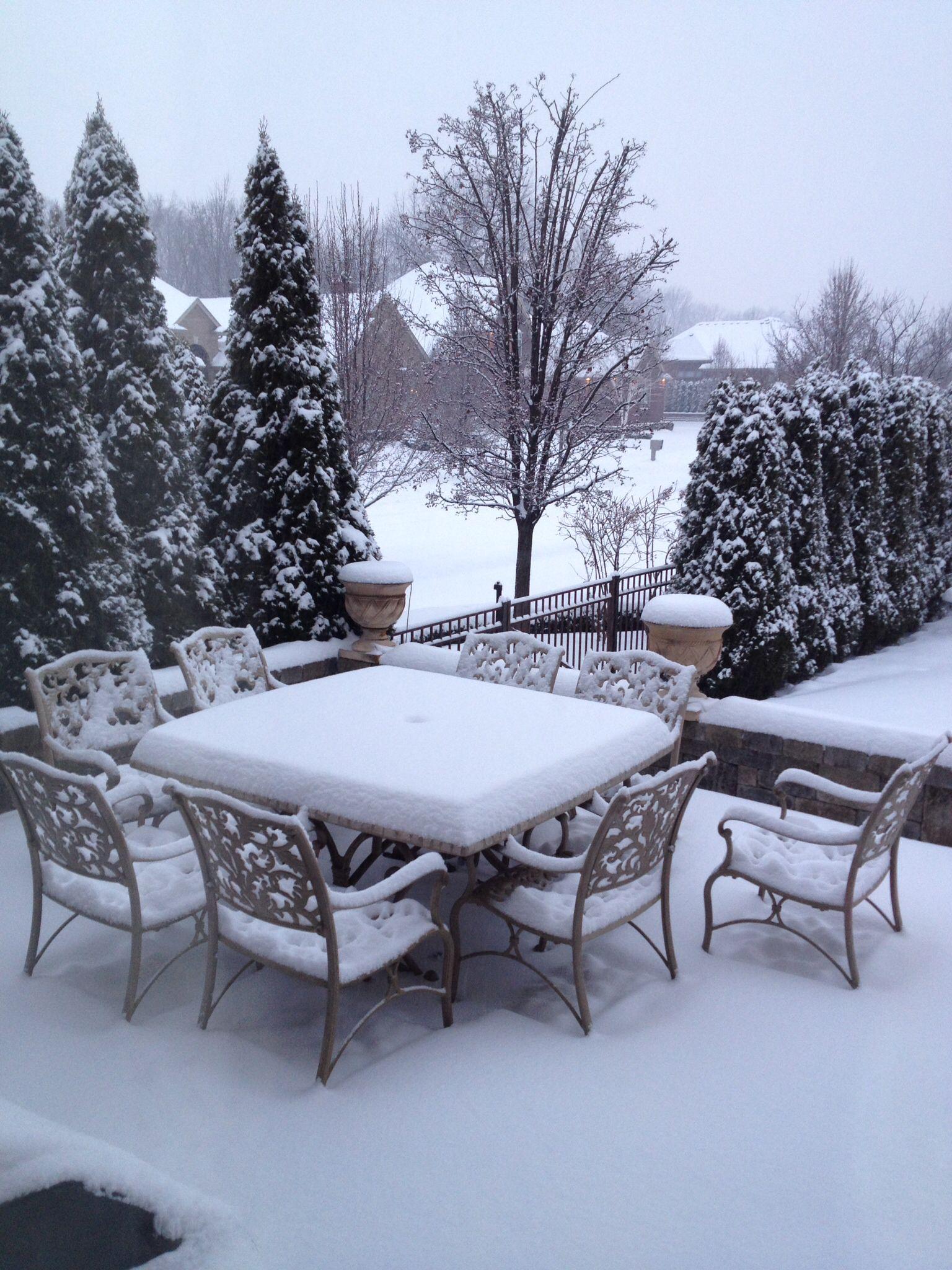 Winter terrace. | Outdoor furniture sets, Outdoor decor ...
