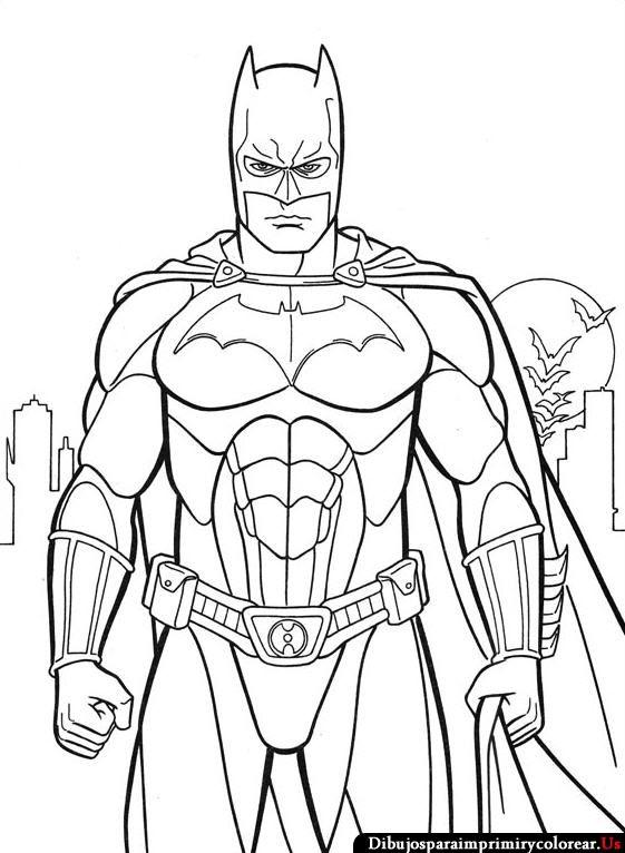 Dibujos de Batman para Imprimir y Colorear | Mica