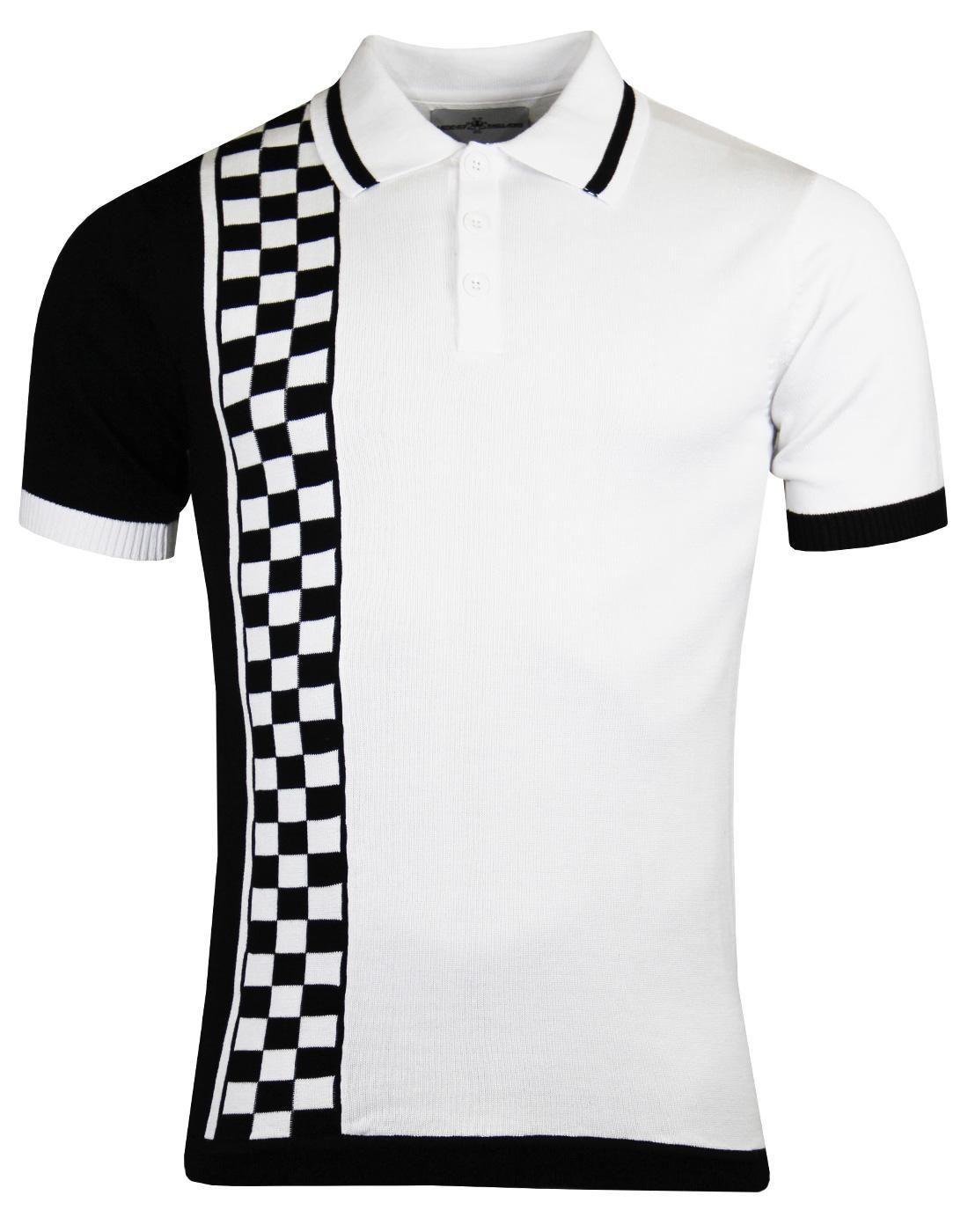 35a47641f Maytal MADCAP ENGLAND Mod Ska Check Stripe Polo