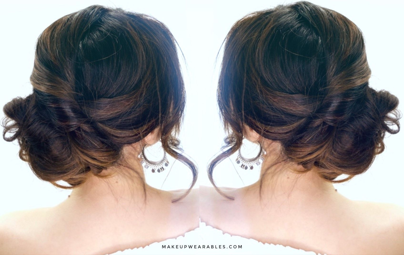 three minute elegant side bun hair