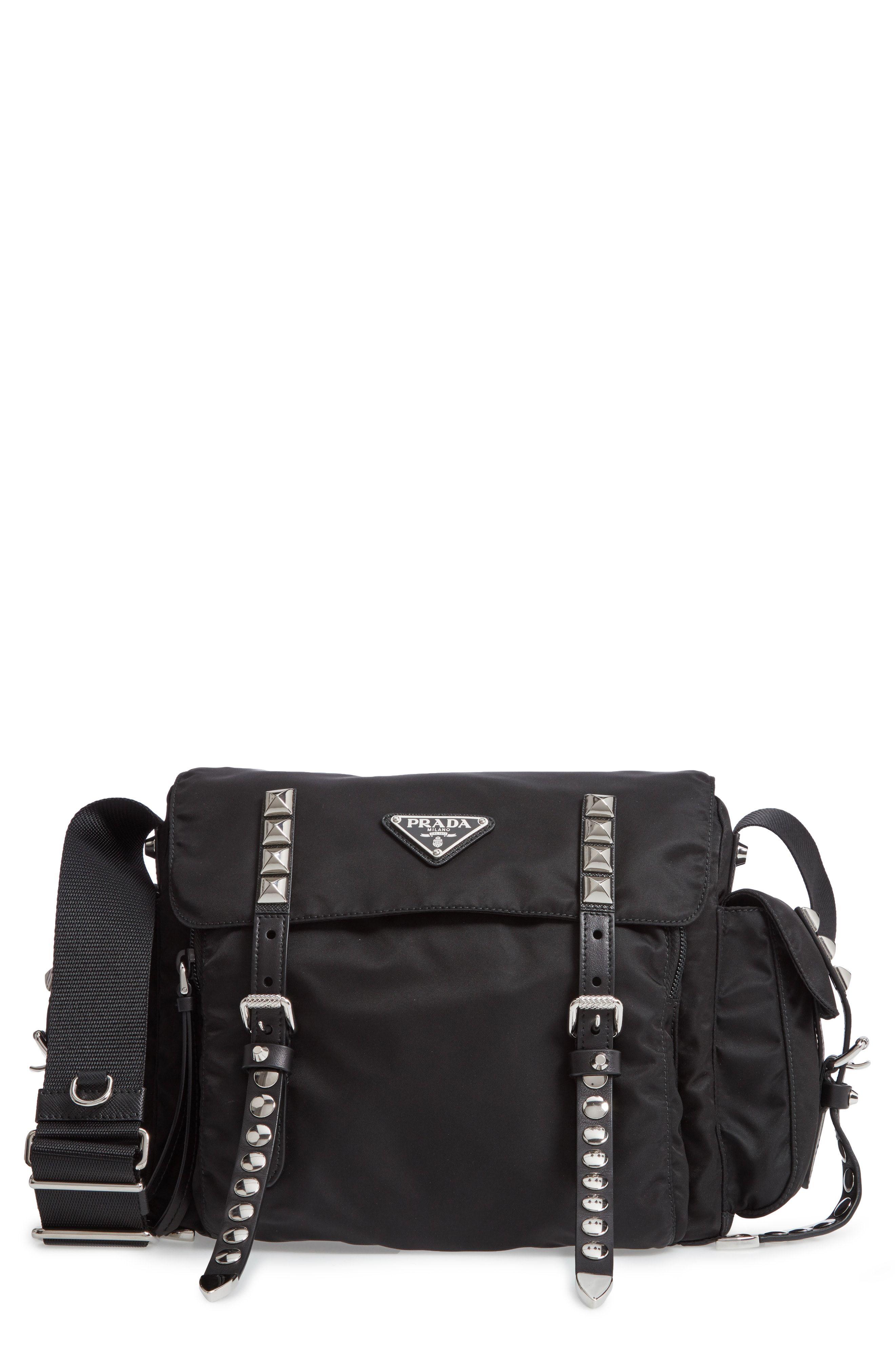 933df9920045 ... wholesale prada stud nylon messenger bag available at nordstrom f94b0  b43d6