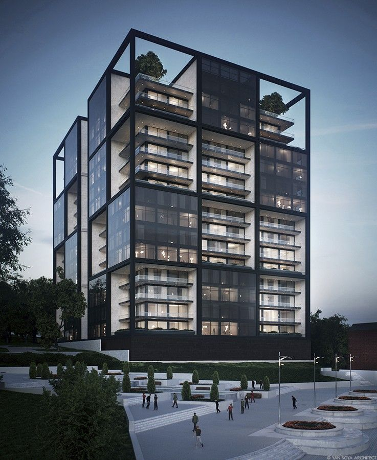 RESIDENTIAL BUILDING CONCEPT   ArchitectureLove   Facade ...