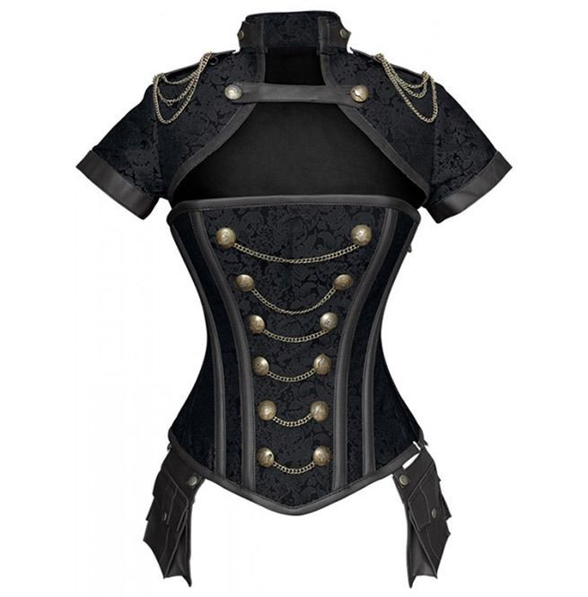Steampunk Women's Chained Overbust Corset Top In 2020