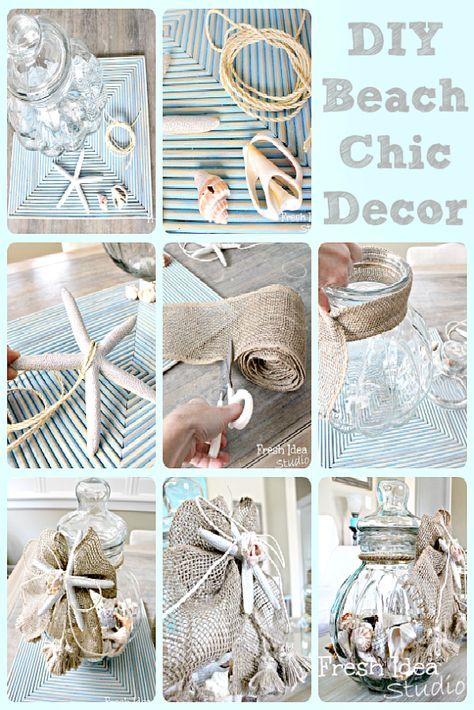 6 easy breezy beach inspired DIY projects | Beach chic decor ...