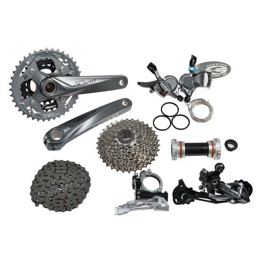 Mountain Bike Bicycle Shimano Alivio M4000 Groupset 9 Speed Mtb
