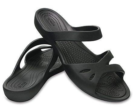 Women S Crocs Kelli Sandals Black Pair Trending Womens Shoes Crocs Sandals Women Shoes