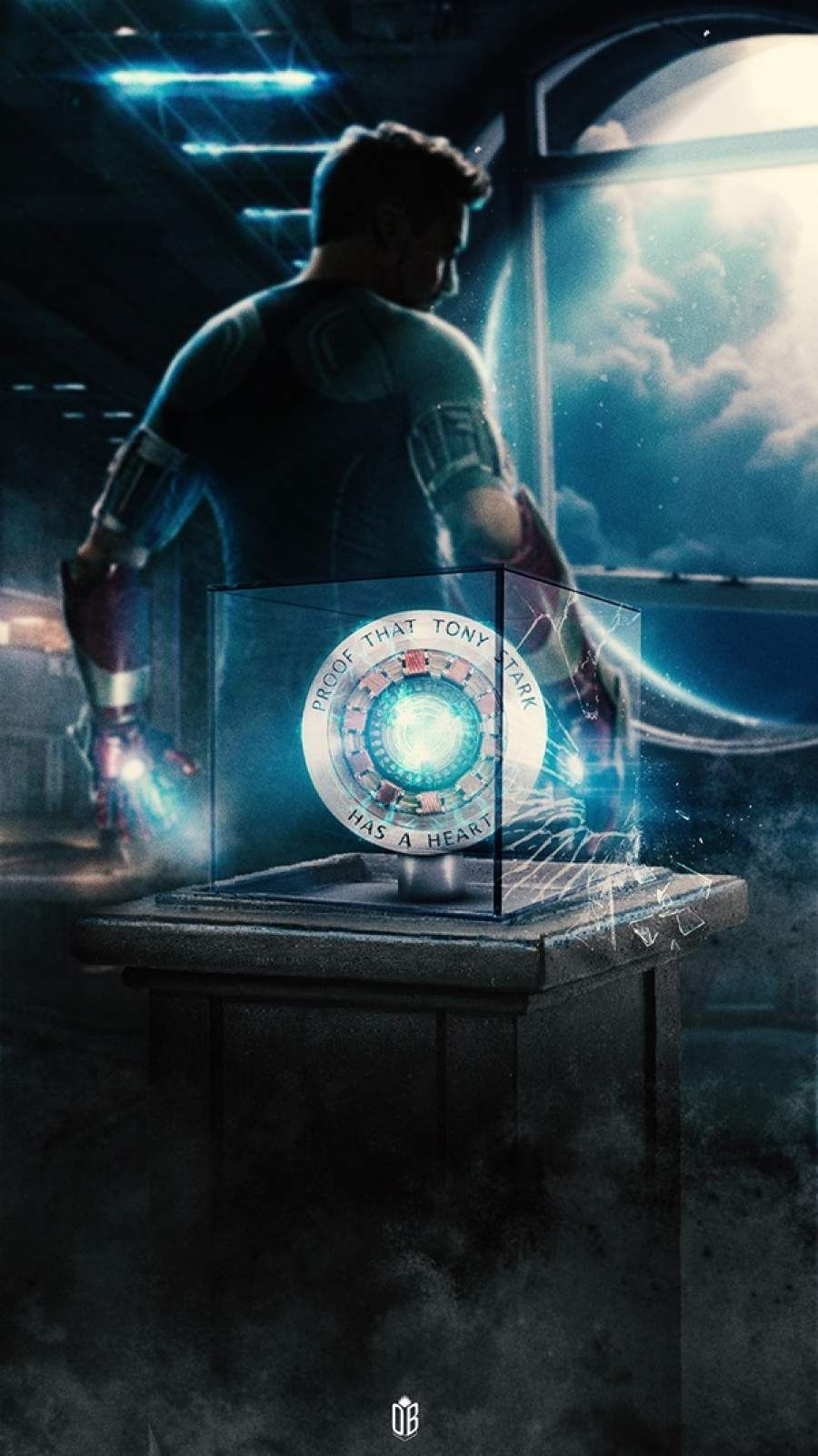 Tony Stark Heart Arc Reactor iPhone Wallpaper