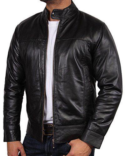 Veste style motard cuir noir pour homme style biker vintage style rétro  bNWT jouet