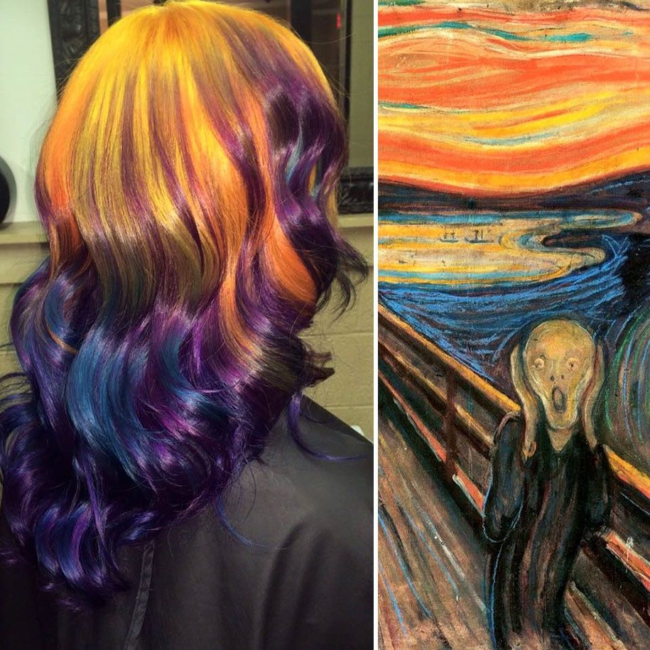 Hairstylist Ursula Goff Paints Hair Into Classic Paintings