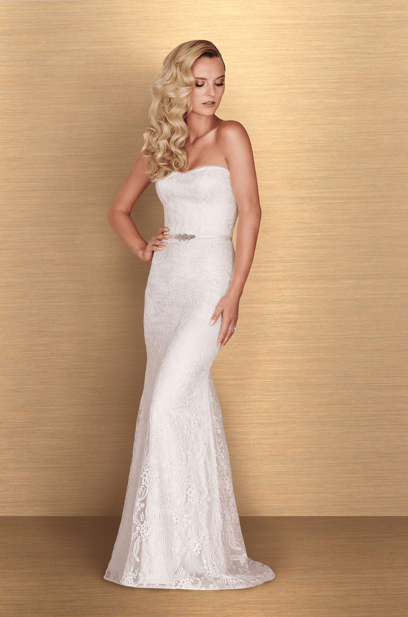 Strapless lace wedding dress style pinterest paloma