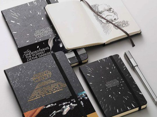 Libretas Moleskine de Starwars.