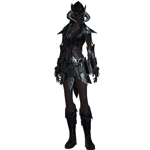 Jaelryn Vrammyr, my Scourge Warlock on Neverwinter | Drow in