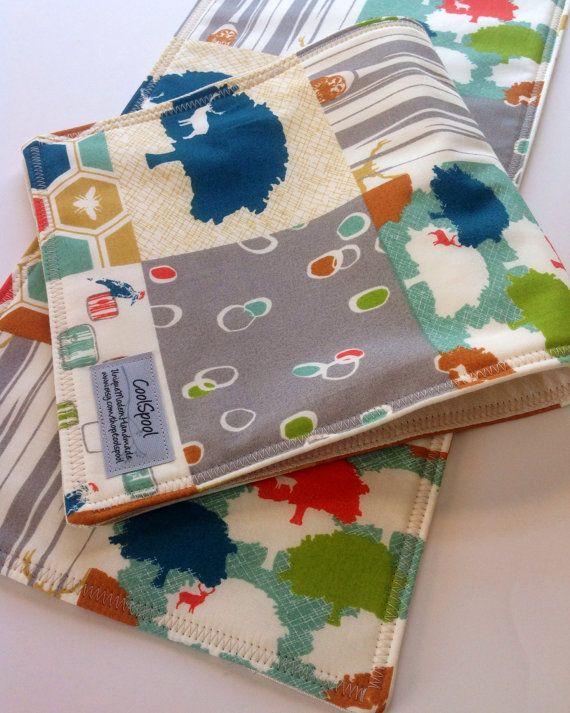 Burp Cloths BabyOrganic Elk Grove Birch Fabric 3 by CoolSpool, $22.00