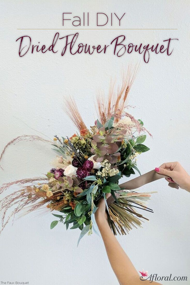 DIY Dried Flower Bouquet | DIY Wedding | Pinterest | Flower bouquets ...