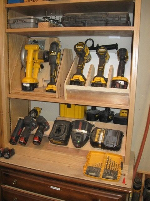 Pin By Rich S On Cordless Tool Storage Pinterest Tool