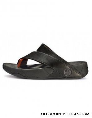 f268fb53e Cheap FitFlop Sling Leather Black Orange Men sale