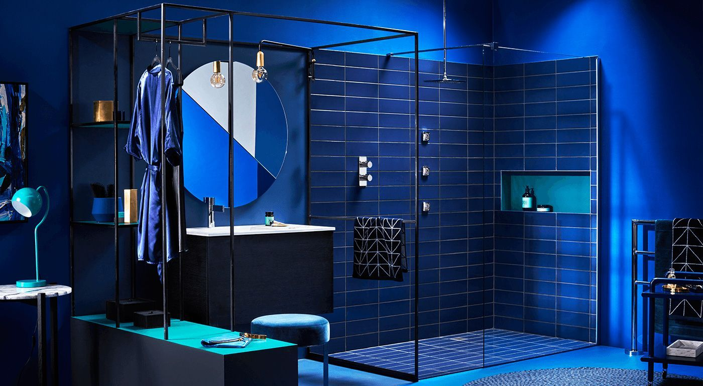 Reece bathroom blue cobalt | Beautiful Bathrooms | Pinterest
