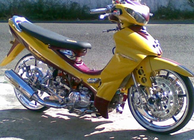 Modifikasi Yamaha Jupiter Z Airbrush Standard Motor