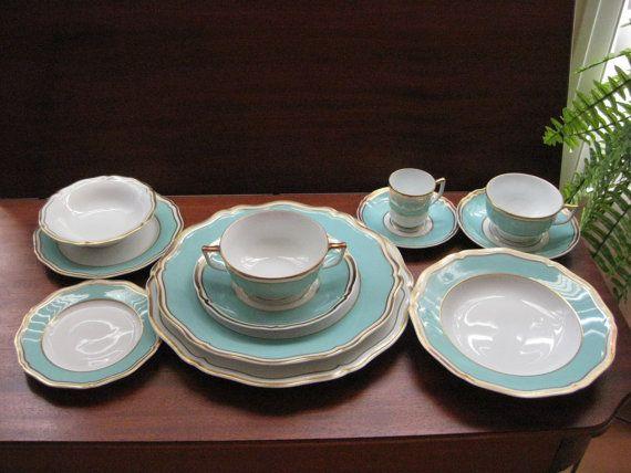 French Limoges China  Raynaud  POLKA Patterns  108 by GiaDzinz, $7000.00